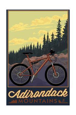 Adirondack Mountains, New York - Ride the Trails by Lantern Press