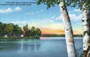 Adirondack Mts, New York - View of Fish Creek State Camping Grounds by Lantern Press