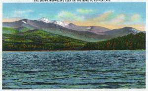 Adirondack Mts, New York - View of Snowy Mts from the Tupper Lake Road by Lantern Press