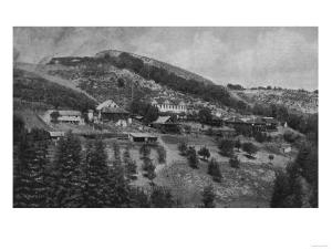 Aerial View of Mountain View Ranch - Santa Cruz, CA by Lantern Press