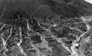 Aerial View of the Town - Wallace, ID by Lantern Press