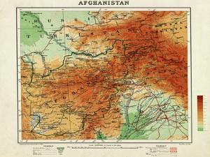 Afghanistan - Panoramic Map - Afghanistan by Lantern Press