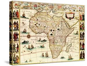 Africa - Panoramic Map - Africa by Lantern Press