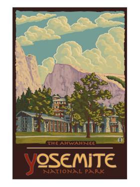 Ahwahnee Lodge, Yosemite National Park, California by Lantern Press