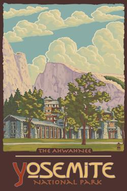 Ahwahnee Lodge, Yosemite National Park, California by Lantern Press