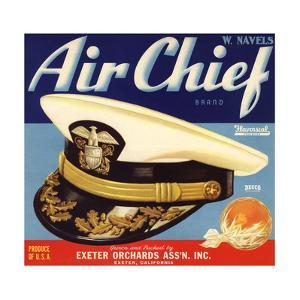 Air Chief Brand - Exeter, California - Citrus Crate Label by Lantern Press