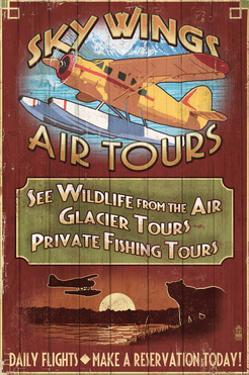 Air Tours - Vintage Sign by Lantern Press