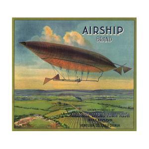 Airship Brand - Fillmore, California - Citrus Crate Label by Lantern Press