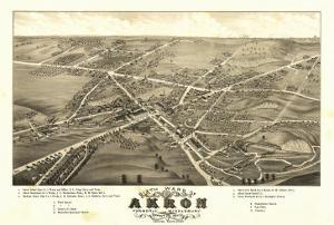 Akron, Ohio - Panoramic Map No. 1 - Akron, OH by Lantern Press