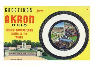 Akron, Ohio - Rubber Manufacturers Firestone, Goodrich, Goodyear by Lantern Press