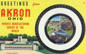 Akron, Ohio - Rubber Manufacturers Firestone, Goodrich, Goodyear by Lantern Press