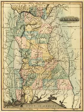 Alabama - Panoramic Map - Alabama by Lantern Press
