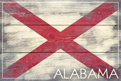 Alabama State Flag - Barnwood Painting