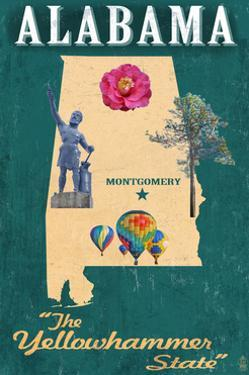 Alabama - State Icons by Lantern Press