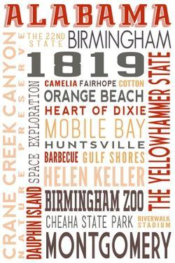 Alabama - Typography by Lantern Press