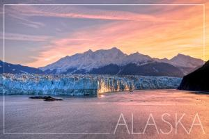 Alaska - Glacier at Sunrise by Lantern Press