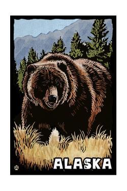 Alaska - Grizzly Bear - Scratchboard by Lantern Press