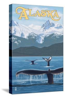 Alaska - Humpback Whale Family by Lantern Press