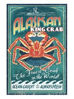 Alaska King Crab by Lantern Press