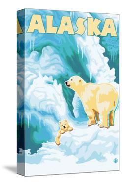 Alaska Polar Bears on Iceberg by Lantern Press