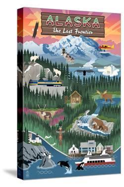 Alaska - Retro Scenes by Lantern Press