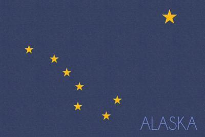 Alaska State Flag - Letterpress (#2) by Lantern Press
