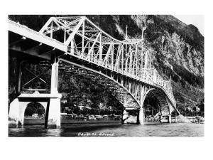 Alaska - View of the Douglas Bridge by Lantern Press