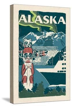 Alaska - Woodblock by Lantern Press