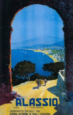 Alassio, Italy - West Italian Riviera Travel Poster - Alassio, Italy by Lantern Press