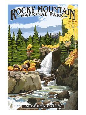 Alberta Falls - Rocky Mountain National Park by Lantern Press