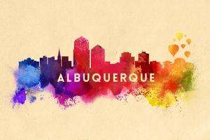 Albuquerque, New Mexico - Skyline Abstract by Lantern Press