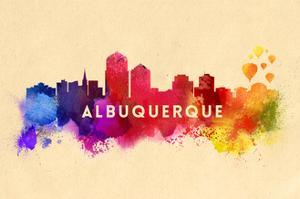 Albuquerque, New Mexico - Skyline Abstract by Lantern Press