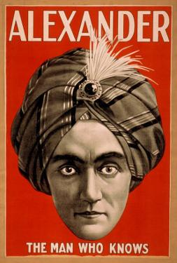 Alexander the Man who Knows Magic Poster by Lantern Press
