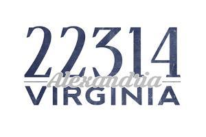 Alexandria, Virginia - 22314 Zip Code (Blue) by Lantern Press