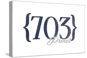 Alexandria, Virginia - 703 Area Code (Blue) by Lantern Press