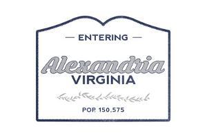 Alexandria, Virginia - Now Entering (Blue) by Lantern Press