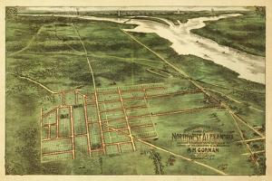 Alexandria, Virginia - Panoramic Map - Alexandria, VA by Lantern Press