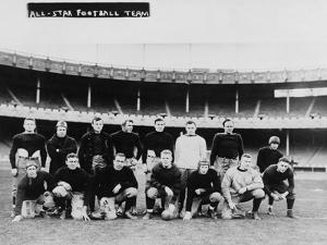 All Star Football Team Photograph by Lantern Press