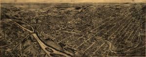 Allentown, Pennsylvania - Panoramic Map by Lantern Press