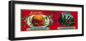 Almaden Peach Label - San Francisco, CA by Lantern Press