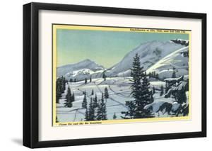 Alta, Utah, Aerial View of a Snowy Amphitheatre, Skiers Skiing by Lantern Press