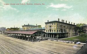 Altoona, Pennsylvania - Logan House and Pa Railroad Station Views by Lantern Press
