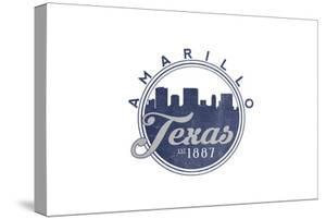 Amarillo, Texas - Skyline Seal (Blue) by Lantern Press