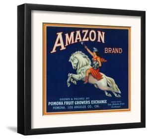 Amazon Orange Label - Pomona, CA by Lantern Press