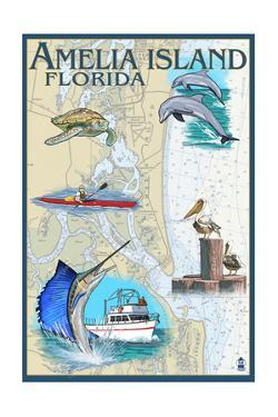 Amelia Island, Florida - Nautical Chart by Lantern Press