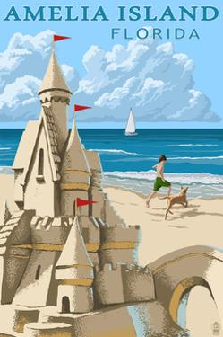 Amelia Island, Florida - Sandcastle by Lantern Press