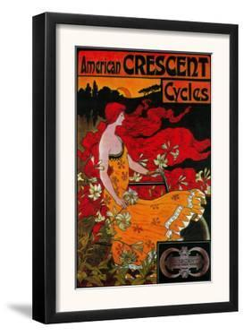 American Crescent Vintage Poster - Europe by Lantern Press