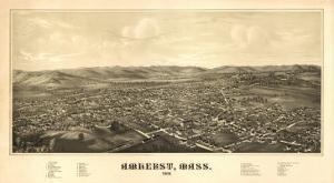 Amherst, Massachusetts - Panoramic Map by Lantern Press