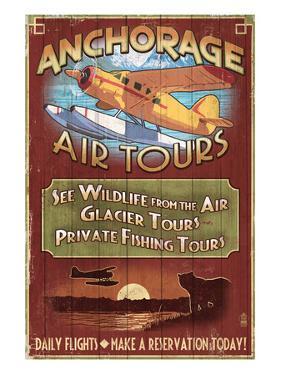 Anchorage, Alaska - Air Tours by Lantern Press