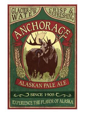 Anchorage, Alaska - Moose Head Ale by Lantern Press
